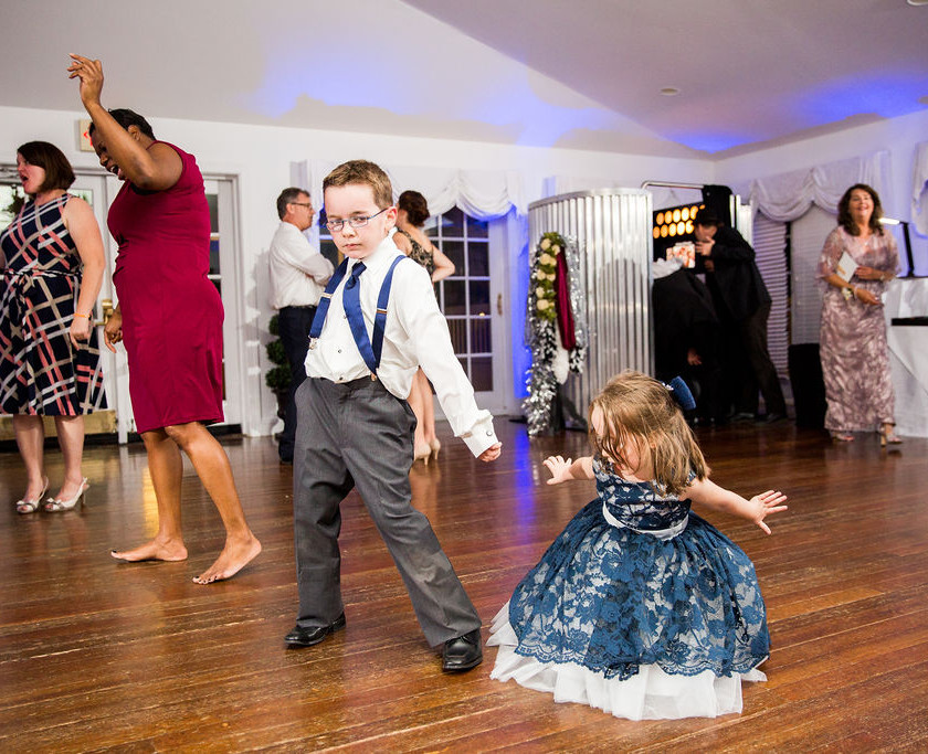 young kids dance at wedding