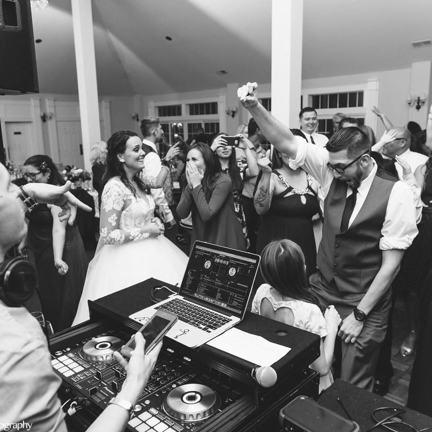 dj rocking wedding dance