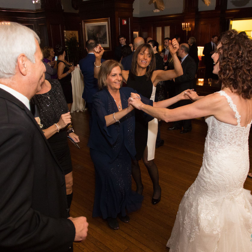 bride dances with woman