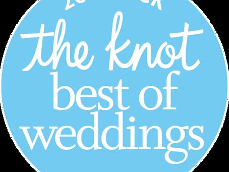 We Won The Knot Best Of Weddings Award