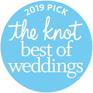 The Knot 2019 Badge for Best of Weddings