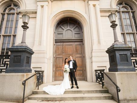 George Peabody Library Wedding in Mt Vernon | Carolyn & Nick