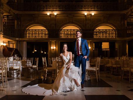 Chic George Peabody Library Wedding in Baltimore - Kara & Rob