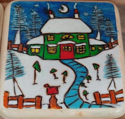 Winter House Green     #E8    4x4