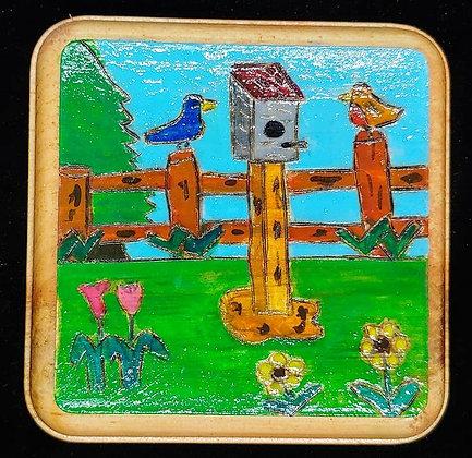 Spring Love Birds             #A3                        4x4