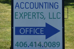 Accounting Experts Business Sign