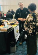 Chef Brian Chafee interacting with the customers