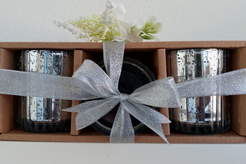 3 - 12oz Silver Jar Gift Set