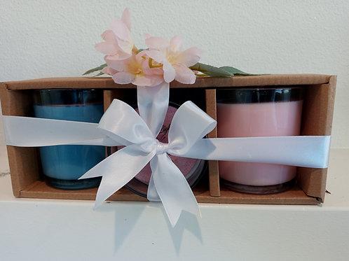 3 - 12oz Clear Jar Gift Set
