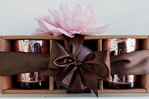 3 - 12oz Rose Gold Jar Gift Set