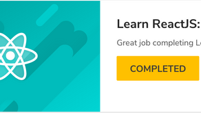 I've sharpened my React.js skills with CodeAcademy
