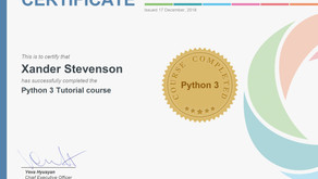 I finished the Python 3 Course at SoloLearn!