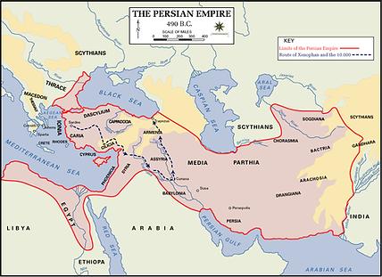 Map of Persian Empire at 490BC