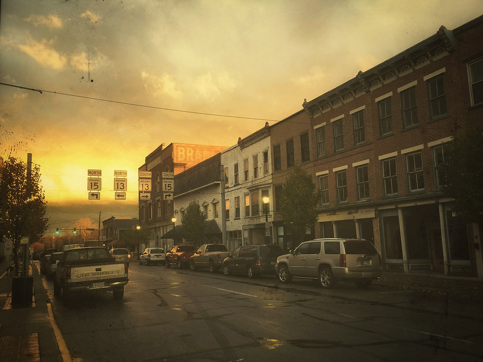Photograph of Canal Street in Wabash, IN