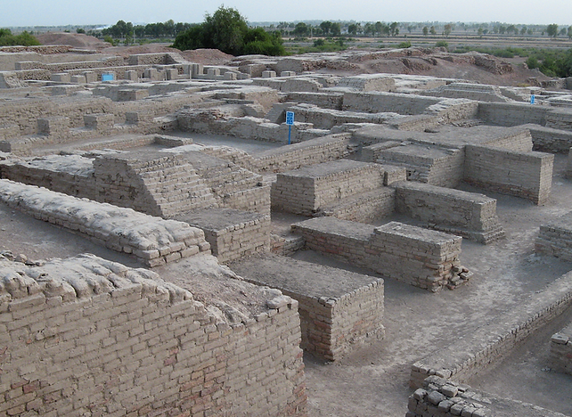 This is a picture of the remains of the city of Mohenjo-Daro