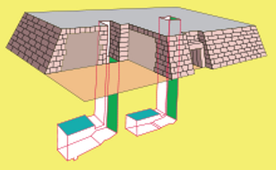 Mastaba graphic showig underground tombs
