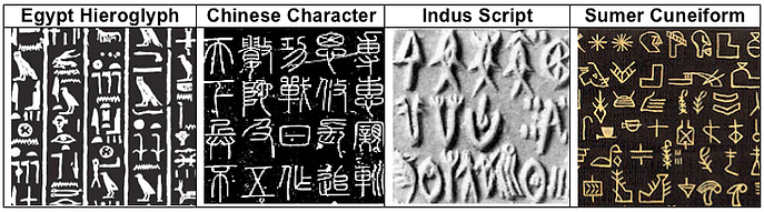 Early written language characters
