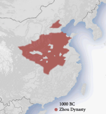 Map of the Zhou Dynasty