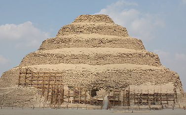 This is a picture of an early step pyramid
