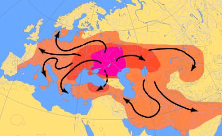Indo European migration map