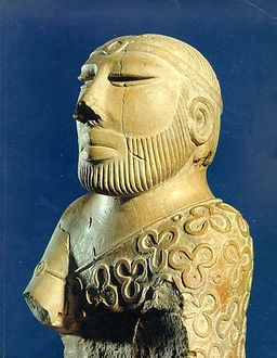 This is a picture of a Mohenjo-Daro Statue
