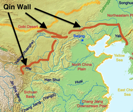Great Wall of Qin Dynasty