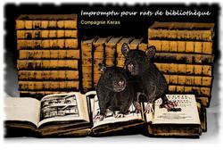 Visuel Impromptu pour rats de bibliothèq
