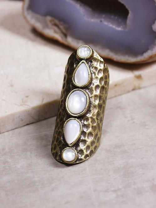 Amaya Ring in Antique Gold