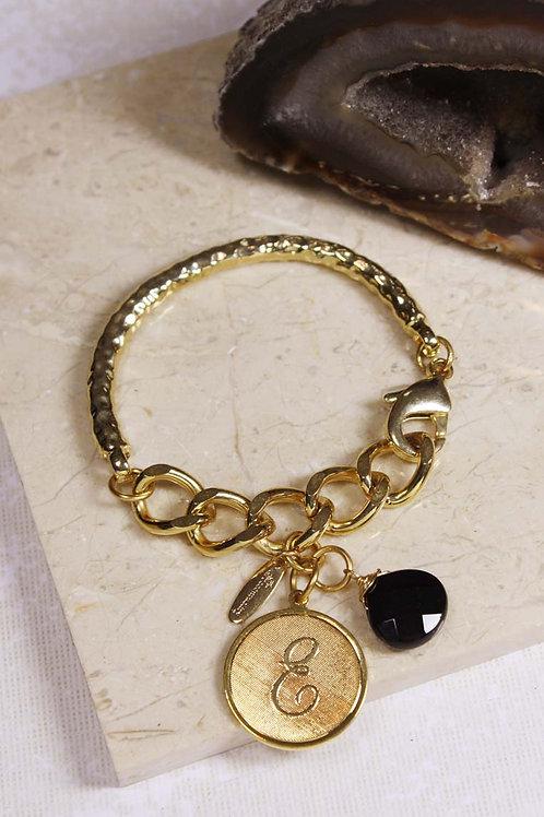 Medallion Initial Bracelet