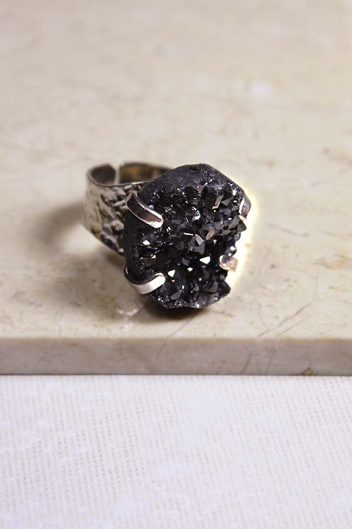 Stardust Ring in Black