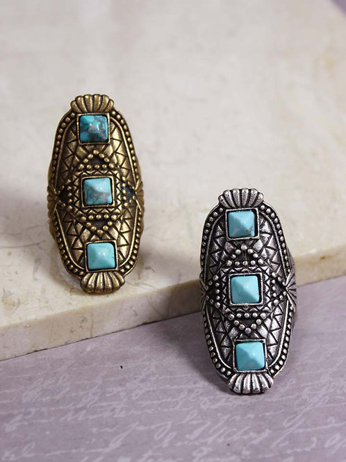 Sarahi Ring in Turquoise