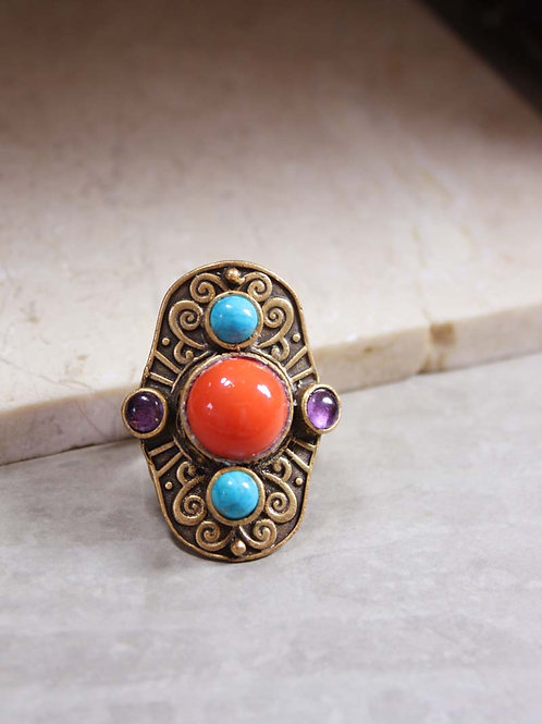 Aegean Ring in Coral