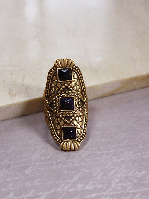 Sarahi Ring in Blue Goldstone
