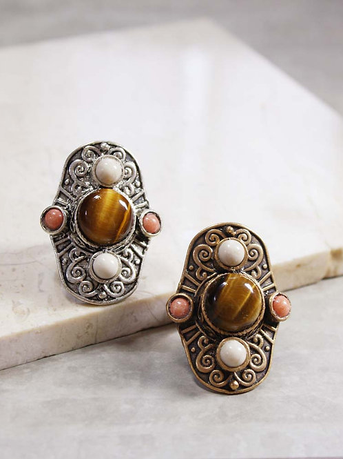 Aegean Ring in Tiger Eye