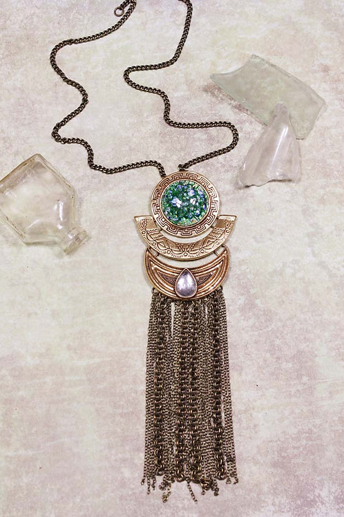 Aria Necklace in Green Opal