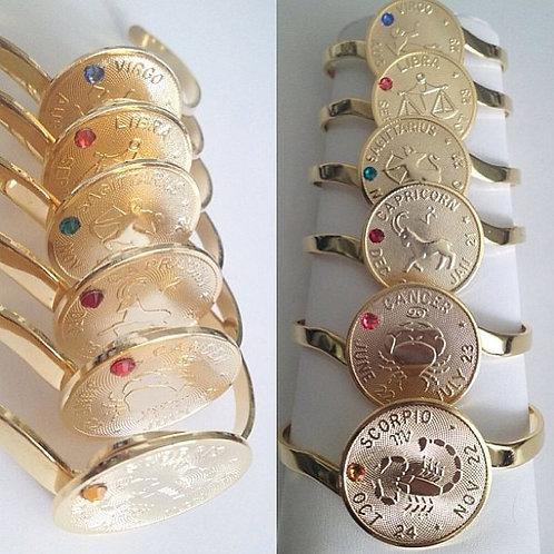 Zodiac Medallion Cuff
