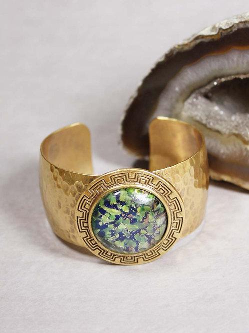 Aria Cuff in Green Opal