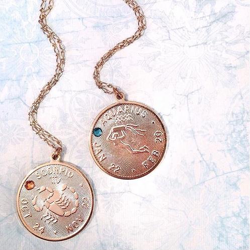 Zodiac Medallion Necklace
