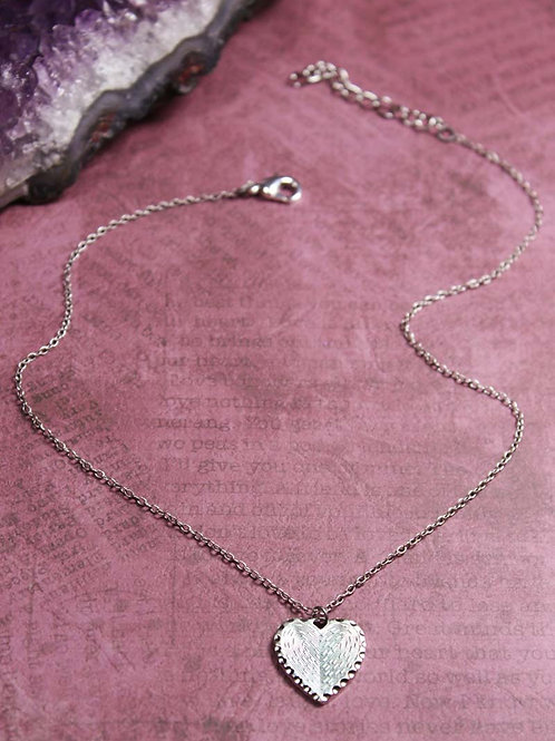 Heart Print Choker Necklace