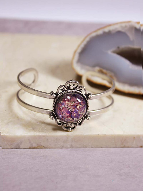 Avorra Cuff in Purple Opal