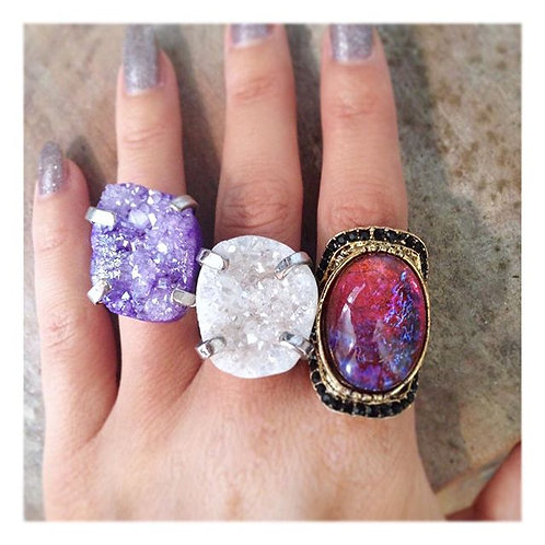 Aria Ring in Red Opal