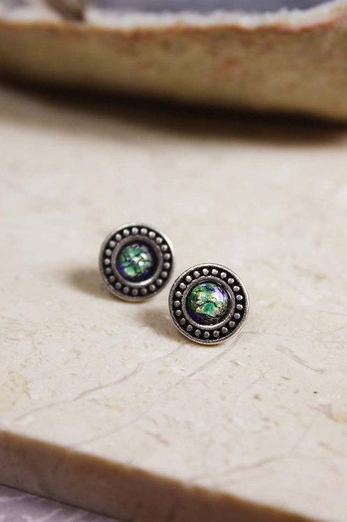 Aria Stud Earring in Green Opal