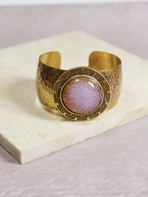 Aria Cuff in Pink Opal