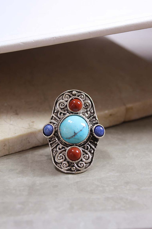 Aegean Ring in Turquoise