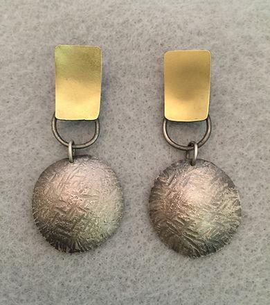 Hammer Textured and blasted Earrings.jpg