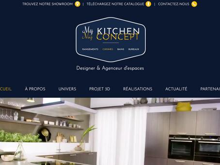 My Kitchen My Concept, cuisiniste à Nîmes et agenceur d'espaces, lance son nouveau site web