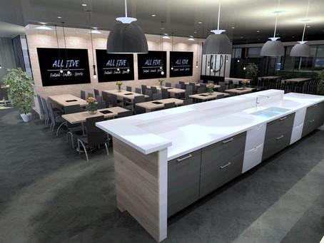 Nouvel aménagement professionnel : My Kitchen My Concept conçoit l'espace All Five Futsal à Vergèze