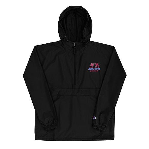 Chula Vista Water Sports x Champion Packable Jacket (Flamingo/Aqua)