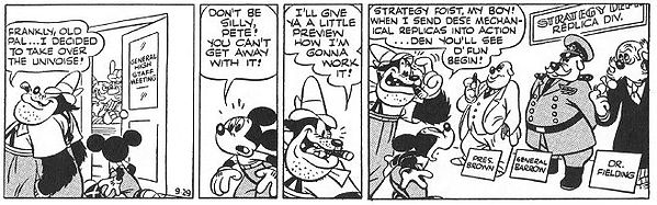 Mickey Mouse World of Tomorrow strip 9-29-44
