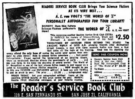 1948-06 Astounding, Reader's Service Book Club ad